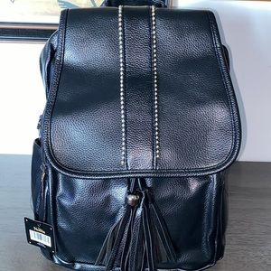 Nollia Synthetic Leather And Polyester Backpack